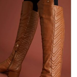 Anthropologie Raphael's Booz chined leather boots